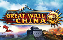 Building The Great Wall of China Badge
