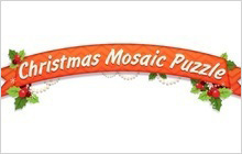 Christmas Mosaic Puzzle Badge