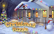 Christmas Puzzle Badge