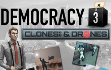 Democracy 3: Clones & Drones DLC Badge