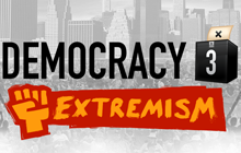 Democracy 3: Extremism Badge