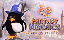 Fantasy Mosaics 22: Summer Vacation Badge