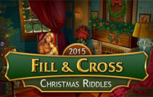 Fill and Cross Christmas Riddles Badge