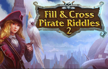 Fill and Cross. Pirate Riddles 2 Badge