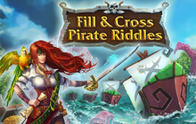 Fill and Cross. Pirate Riddles Badge