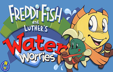 Freddi Fish and Luther's Water Worries Badge