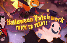 Halloween Patchwork Trick or Treat Badge