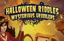 Halloween Riddles Mysterious Griddlers Badge