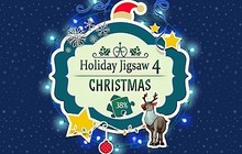 Holiday Jigsaw Chirstmas 4 Badge
