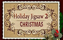 Holiday Jigsaw Christmas 2 Badge