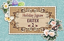 Holiday Jigsaw Easter 2 Badge