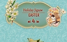 Holiday Jigsaw Easter 4 Badge