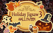 Holiday Jigsaw Halloween 3 Badge