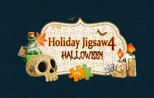 Holiday Jigsaw Halloween 4 Badge