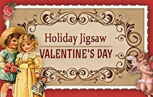 Holiday Jigsaw Valentine's Day Badge