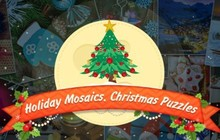 Holiday Mosaics Christmas Puzzles Badge