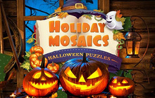 Holiday Mosaics Halloween Puzzles Badge