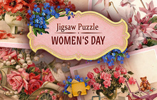 Jigsaw Puzzle Womens Day Badge