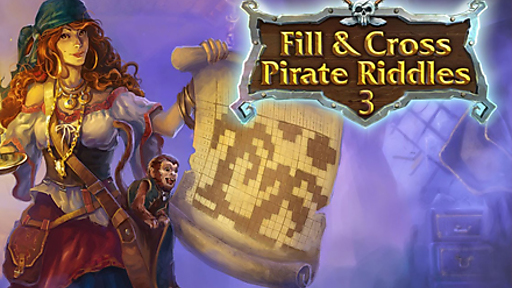 Fill and Cross. Pirate Riddles 3
