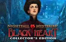 Nightfall Mysteries: Black Heart Collector's Edition Badge