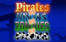 Pirates vs Ninjas vs Zombies vs Pandas Badge