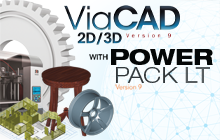 Punch! ViaCAD 2D/3D v9 +PowerPack LT Badge