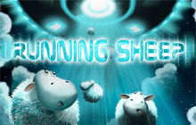 Running Sheep Badge