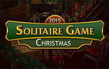 Solitaire Game Christmas Badge
