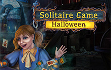 Solitaire Game Halloween Badge