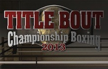 Title Bout Championship Boxing 2013 Badge