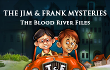 The Jim and Frank Mysteries: The Blood River Files Badge