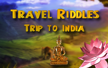 Travel Riddles: Trip To India Badge