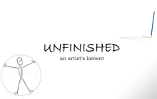Unfinished - An Artist's Lament Badge