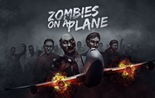 Zombies on a Plane Badge
