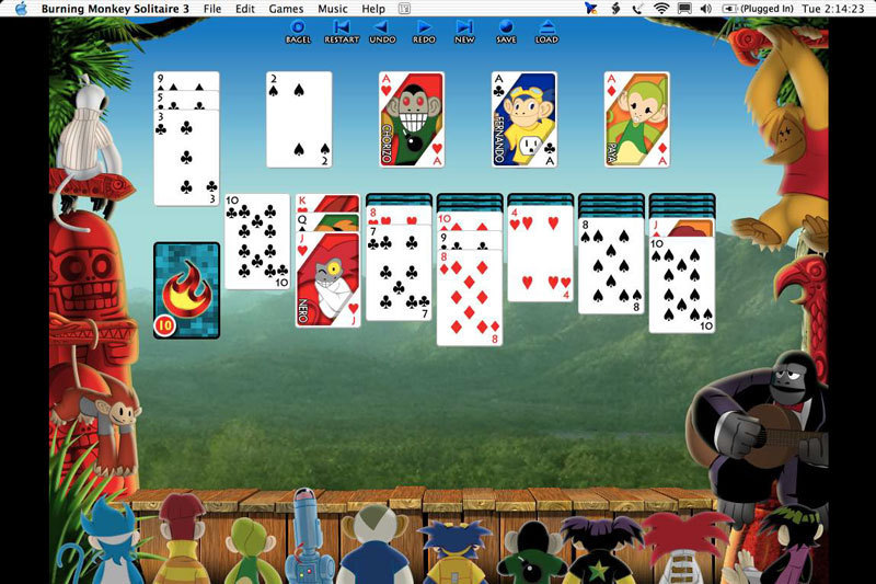 burning monkey solitaire mac free download