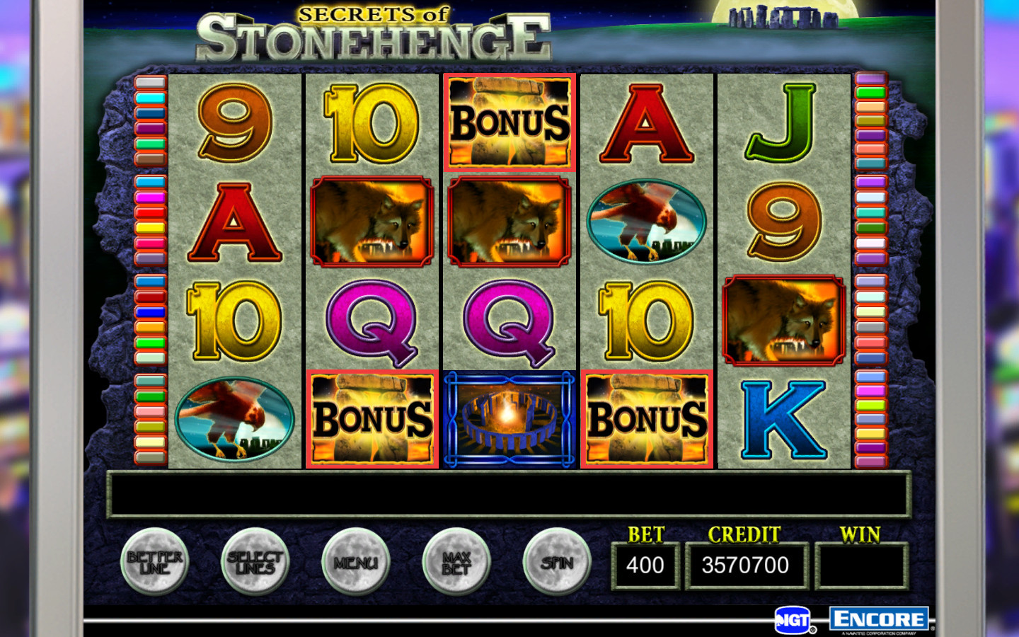 video slots online casino fast money