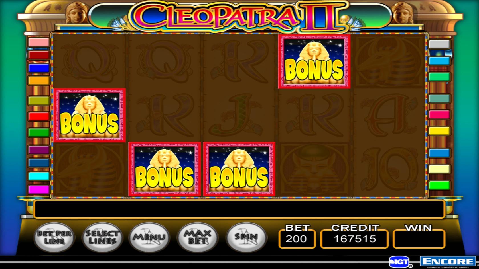 Cleopatra slot bonuses