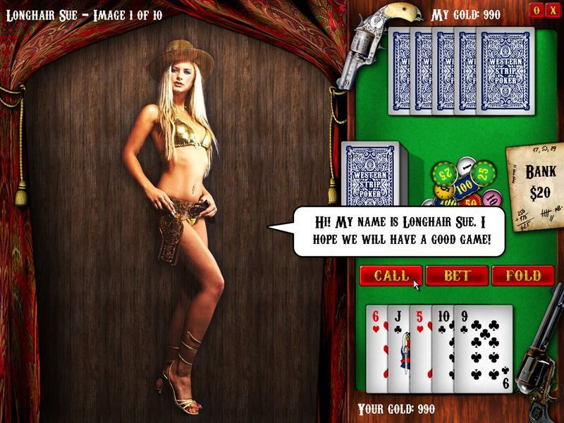 video strip poker online