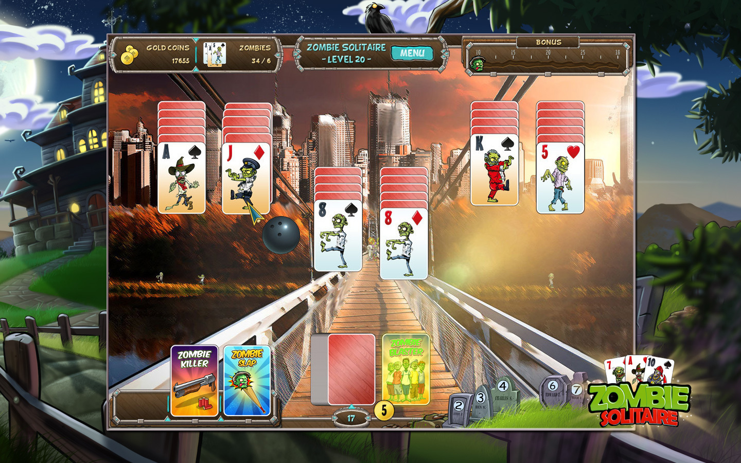 zombie solitaire card game free play
