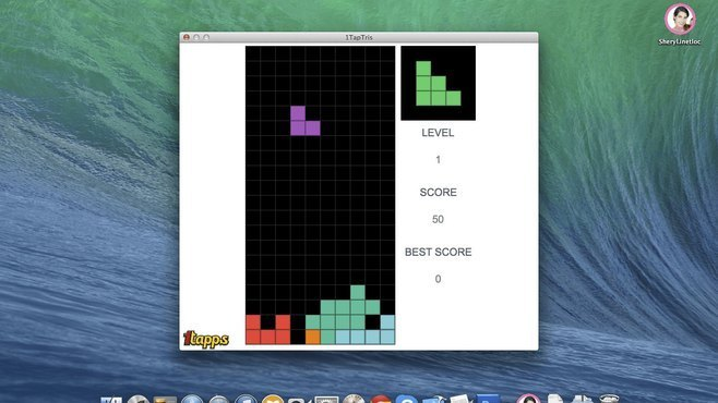 1TapTris - Falling Blocks Classic Puzzle Game Screenshot 1