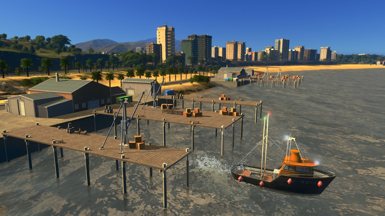 Cities: Skylines - Sunset Harbor Screenshot 1