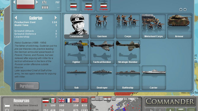 Commander: Europe At War Screenshot 1
