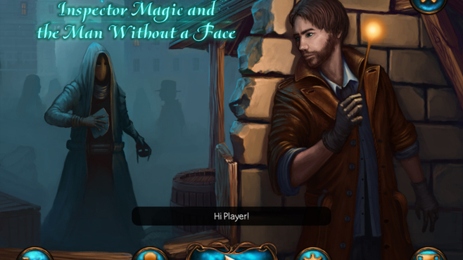 Detective Solitaire Inspector Magic and the Man Without a Face Screenshot 1