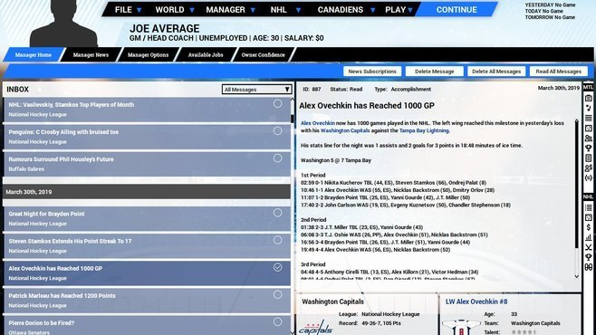 Franchise Hockey Manager 5 Screenshot 10