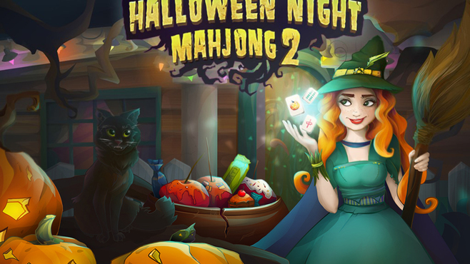 Halloween Night 2 Mahjong Screenshot 1