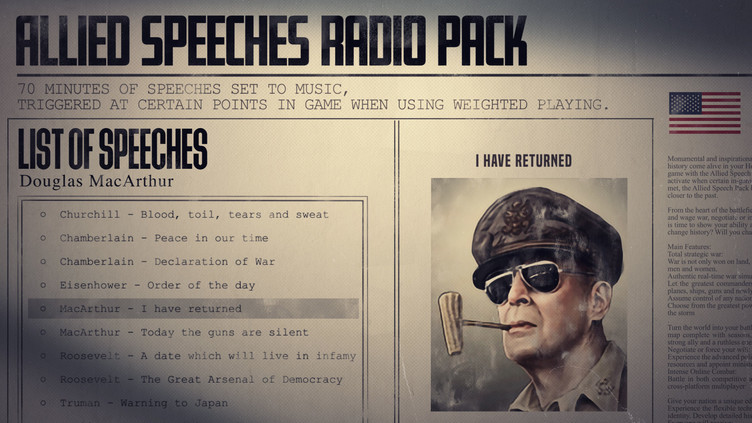Hearts of Iron IV: Allied Speeches Pack Screenshot 1