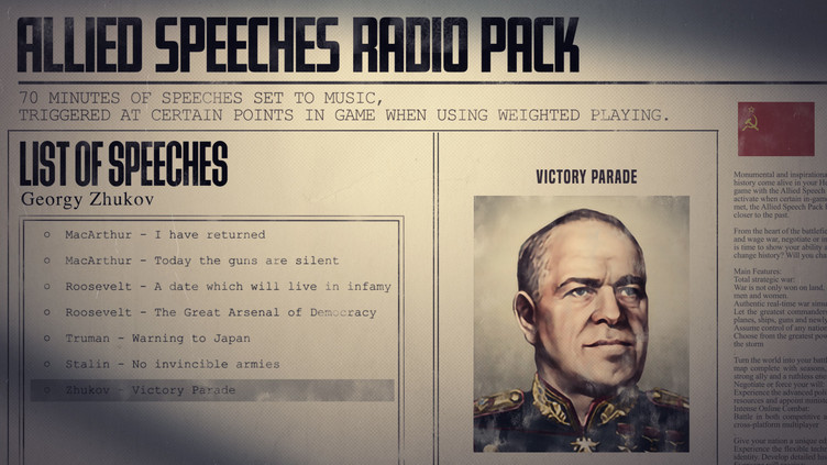 Hearts of Iron IV: Allied Speeches Pack Screenshot 2