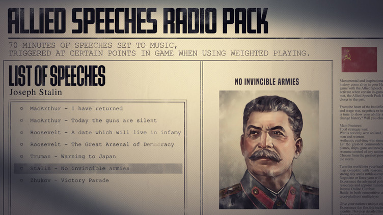 Hearts of Iron IV: Allied Speeches Pack Screenshot 3