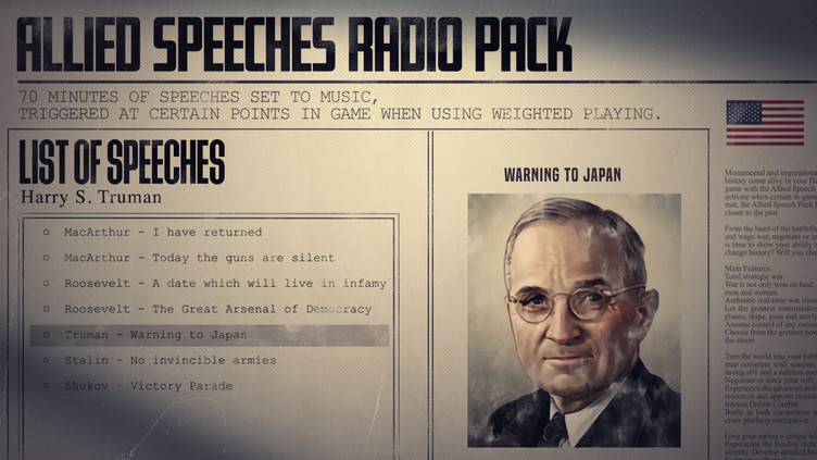 Hearts of Iron IV: Allied Speeches Pack Screenshot 5