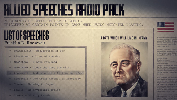 Hearts of Iron IV: Allied Speeches Pack Screenshot 6